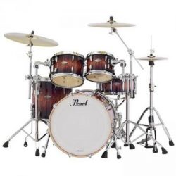 "Pearl Masters Customs  Birch BCX dobszerelés, Shell pack (20-10-12-14"")  Lava Bubinga szín, chrom HW  BCX904XP/C818"
