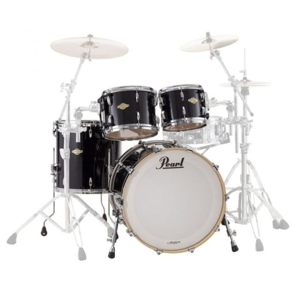 "Pearl Masters Customs  Birch BCX dobszerelés, Shell pack (22-10-12-14"")  Piano Black szín, chrom HW  BCX924XFP/C103"