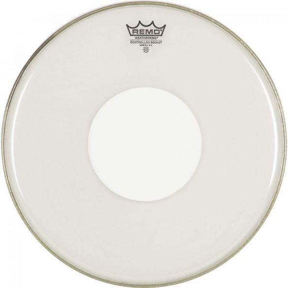"Remo, Controlled Sound, Clear, 18"" dobbőr, White Dot On Top"