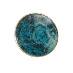 "Remo, Doumbek Drumhead, Dx Series, SKYNDEEP®, 8.75"" Diameter, 3/8"" Collar, Crimped Hoop, 'Turquoise Mist' Graphic"