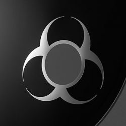 "Remo, DynamO, ""Biohazard"", 3"" Diameter, Chrome"