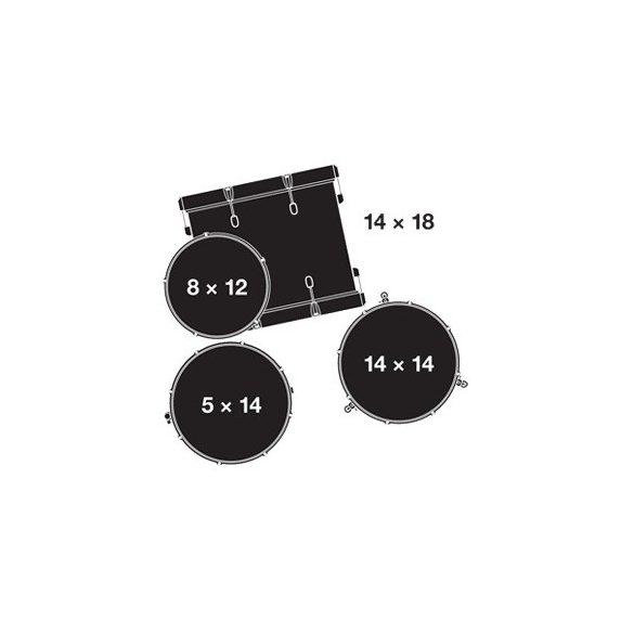"Gretsch Catalina Club dobszerelés (18-12-14-14S"") shell-pack, CT1-J484-SAF"