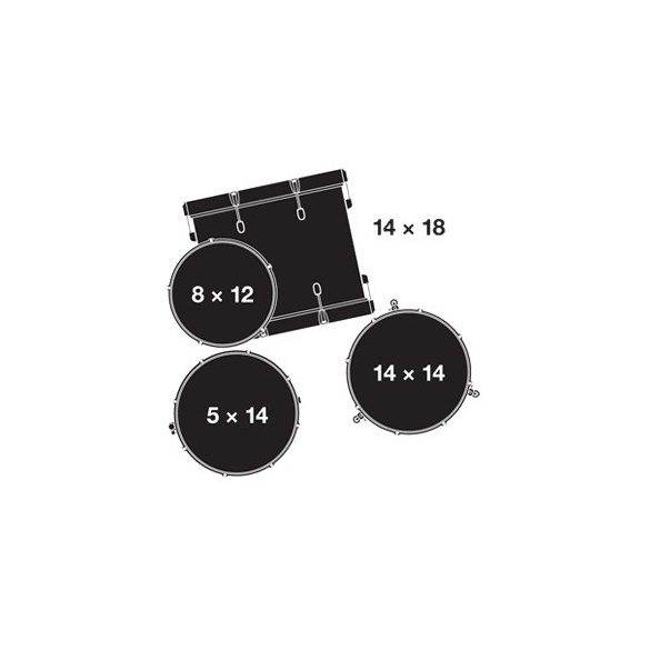 "Gretsch Catalina Club dobszerelés (18-12-14-14S"") Shell pack, CT1-J484-PB"