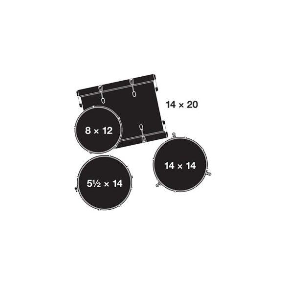 """Gretsch Catalina Club dobszerelés (20-12-14-14S"""") shell pack, CT1-J404-SWG"""