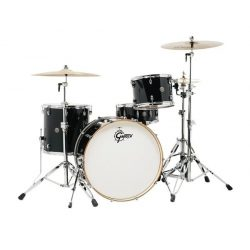 "Gretsch  Catalina Club  GR803079 dobszerelés (24-12-16-14S"") shell pack Satin Flat Black CT1-R444-PB"