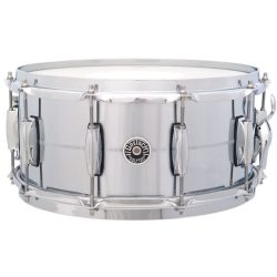 "Gretsch Brooklyn Series 14""x6.5"" pergődob Chrome Over Brass Shell, GB4164"