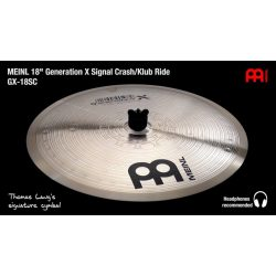 "Meinl Thomas Lang Generation-X  18"" Signal Crash/Klub ride  GX-18SC  B_Stock"