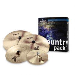 "Zildjian K Country Pack 15""H,17""-19""C,20""CR K0801C"