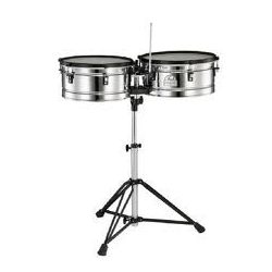"""Pearl PTE-1415DX Primero Pro Steel Timbales 14""""/15"""" +PT-900 Stand"""