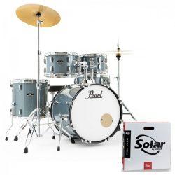 Pearl Roadshow dobfelszerelés (20-10-12-14-14S)  Charcoal Metallic szín+ HW+ Sabian Cymb + dobszék