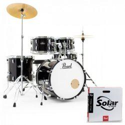 Pearl Roadshow dobfelszerelés (22-10-12-16-14S)  Jet Black szín+ HW+ Sabian Cymb + dobszék