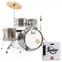 Pearl Roadshow dobfelszerelés (22-10-12-16-14S)  Bronz Metal szín+ HW+ Sabian Cymb + dobszék