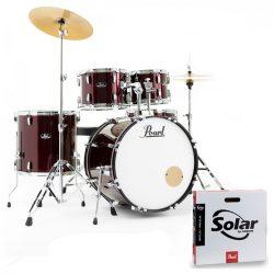 Pearl Roadshow dobfelszerelés (22-10-12-16-14S)  Red Wine szín+ HW+ Sabian Cymb + dobszék