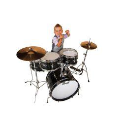 Pearl Roadshow Junior Dobfelszerelés (16-8-10-13-12S) Jet Black szín+ HW+ Cymb + dobszék