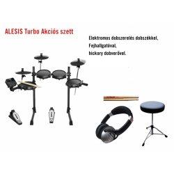 Alesis Turbo Mesh Kit  elektromos dobfelszerelés, Akciós csomagban RAKTÁRON